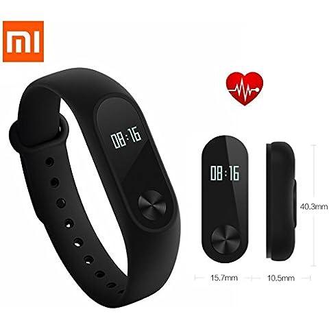 Xiaomi Mi Band 2 pulsera llega con sensor de frecuencia cardiaca para iOS/Android (Xiaomi 2 Negro))