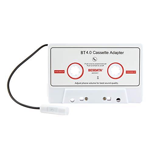CICMOD Kassettenadapter für Bluetooth Autoradio Auto Tape Kassettenadapter Audio-Kassette AUX Adapter KFZ(Weiß)