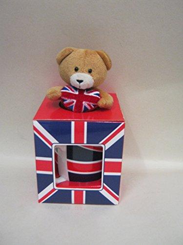 Elgate de cerámica diseño de la bandera británica de taza y peluche