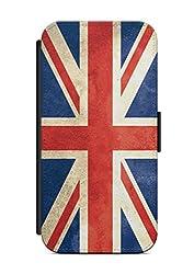 Kompatibel mit Samsung Galaxy J5 2017 Flipcase Handytasche Hülle mit Magnetverschluss auffklappbar England Fahne Flagge