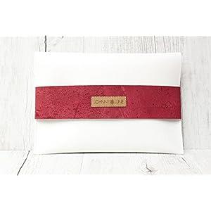 Clutch KORK weiß & pink