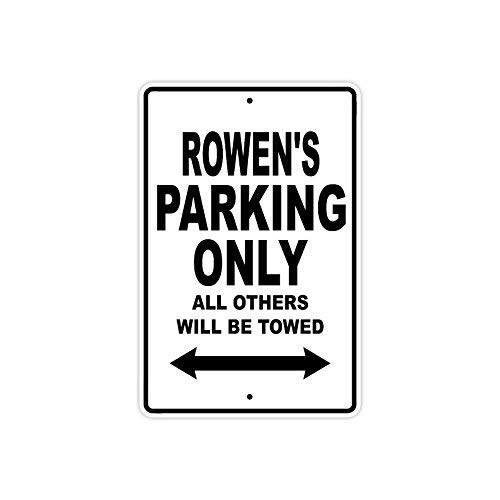 VINMEA Metallschild Rowen's Parking Only All Other Will Be Towed, 25,4 x 35,6 cm