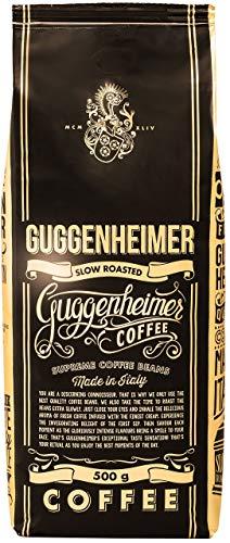 GUGGENHEIMER COFFEE - Kaffeebohnen 2kg - Extra langsam geröstet - wenig Säure und Bitterstoffe - Barista-Qualität - Feinste Crema - Bester Espresso für Vollautomaten - 4 x 500 g