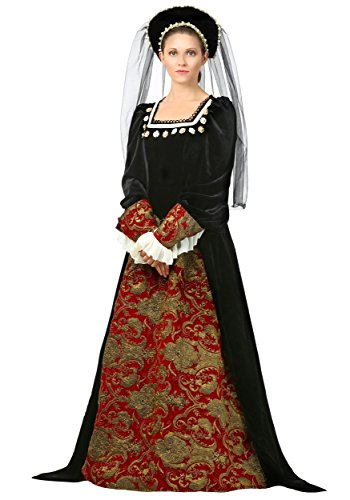 Women's Anne Boleyn Fancy Dress Costume (Anne Boleyn Kostüme)