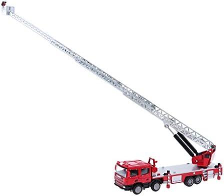 MagiDeal 1:50 Camion de de de Pompiers Miniature Mini Fourgon-pompe Petites Voitures en Alliage Cadeau pour   Garçon Fille Jouet Collections | Fabrication Habile  afcc57