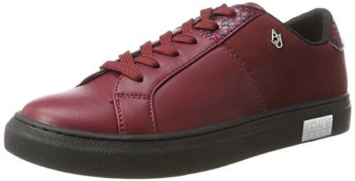 Armani Jeans Damen Sneaker Bassa, Rot (Burgundy), 36 EU