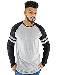 Grey And Black Round-Neck T-shirt