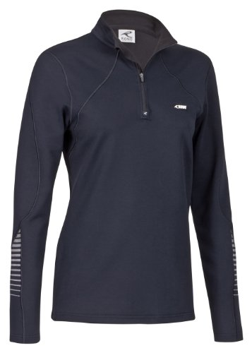 Rono t-shirt pour femme dry iI polo pour homme à col montant zippé Noir - noir
