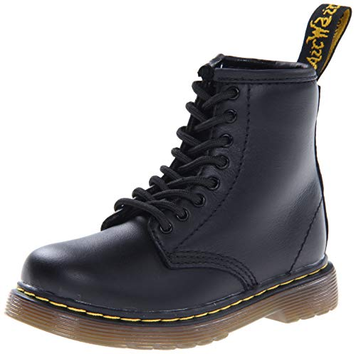 Dr. Martens BROOKLEE Softy T Unisex-Kinder Bootsschuhe, Black Softy T, 23 EU