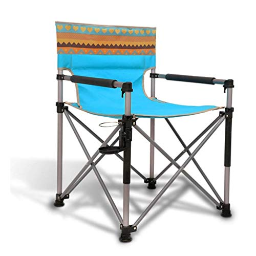 Lcxligang Tragbare Klappstühle Utility Chair Strand Stühle Aluminium Angeln Camping Outdoor Rasen Sport Picknick Stuhl (Color : Blue)