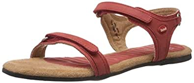 Dr.Scholl Women's Ozan Pink Leather Fashion Sandals - 8 UK/India (41 EU) (5645605)
