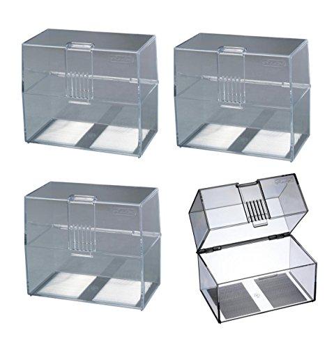 4x Karteikasten / Lernbox / DIN A7 / transparent