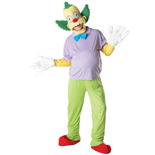 Herren-Kostüm Krusty der Clown, Gr. Standard (Krusty Der Clown Kostüme)