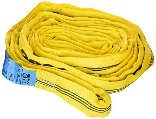 Braun 30081RS Rundschlinge 3000 kg Tragkraft, 8 m Umfang, endlos mit Polyesterkern, gelb
