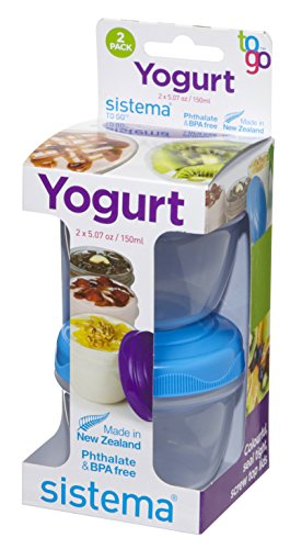 Sistema Yogurt To Go Rundbehälter, 150ml, 2er-Packung