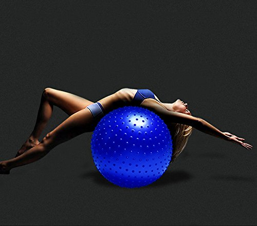 PRECORN Fitness-Ball 55 cm Sitzball Gymnastikball mit Massagenoppen Igelball Gesundheitsball Yoga