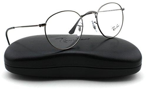 Ray-Ban RX3447V Round Metal Unisex Eyeglasses Matte Gunmetal 2620, 47mm
