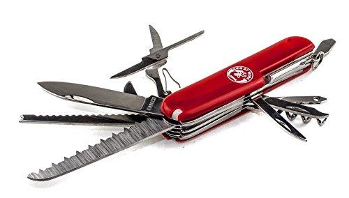 Corvus 600150 Kids at Work - Taschenmesser mit spitzer Klinge rot multifunktion Outdoor