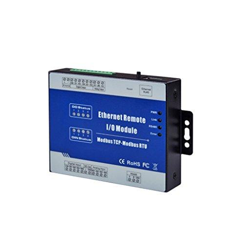 MagiDeal M100T Modbus TCP Ethernet Remote IO E/A Modul 2DI+ 2DO+ 2AI+ RJ45 + RS485 Entwicklungsboard Ethernet-digital-io
