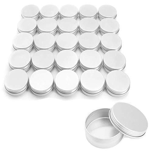Depory Caja de 10 latas de cosméticos redondas para crema, vacías, de aluminio, 15 ml