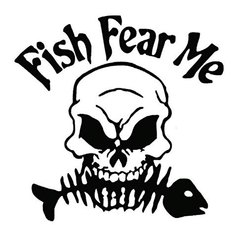 Schädel Fisch Auto Aufkleber Fisch Fürchten Mich Brief Reflektierende Auto Aufkleber Angelausrüstung Dekorative Aufkleber Kraftstofftank Aufkleber