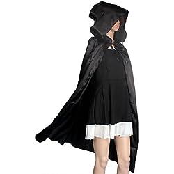 Sannysis® Escudo Capa con capucha; Wicca Robe medieval Fiesta de Halloween mantón del Cabo (L, negro)