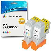 2 Cartuchos de tinta compatibles para Canon Pixma iP1000, iP1500, iP2000, MP110, MP130, SmartBase/MultiPass/Bubble Jet/ImageClass/Pixus MP200, MP360, MP360S, MP370, MP390, MPC190, MPC200, MP375R, MPC390, i250, i320, i350, i450, i455, i470D, i475D, F20, S200, S200X, S300, S330, BJC-2000, BJC-2010, BJC-2100, BJC-2110, BJC-2115, BJC-2120, BJC-2125, BJC-4300, BJC-4302, BJC-4304, BJC-4310, BJC-4400, BJC-4500, BJC-4550, BJC-4650 / BCI-21BK, BCI-24BK, BCI-21C, BCI-24C