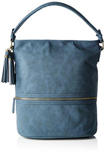 Marco Tozzi 61020, Sacs Portés Main Femmes, 33x35x20 cm Bleu (815)