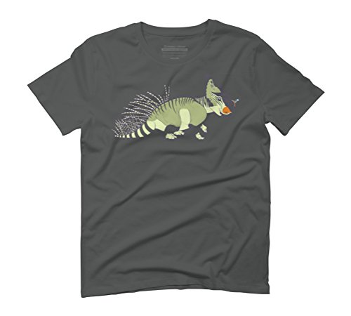Pachyrhinosaurus and Friend Men's Graphic T-Shirt - Design By Humans Anthracite