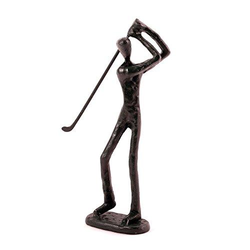 Décoration Sculpture 'Golf'   Marron, 19,1x 8,9x 5,1cm, fer à repasser   Figure, Sports,...