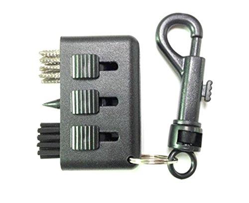 canamite® 3in 1Golf Reinigung Pinsel Bürste Groove Reiniger Tasche Größe Kunststoff Club Kit Werkzeug schwarz, 1#