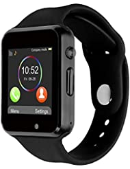 Bluetooth Smartwatch [Sangle souple], CHEREEKI Brecelet Watch Sportif Smart Watch Supporte SIM Carte / TF Carte avec pédomètre caméra moniteur de sommeil pour Android Smart téléphone