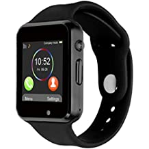 Smartwatch Bluetooth [Correa suave], CHEREEKI Reloj de pulsera deportivo con pantalla táctil. smartwatch soporta tarjetas SIM/tarjetas TF (micro SD), podómetro, para Android teléfonos inteligentes