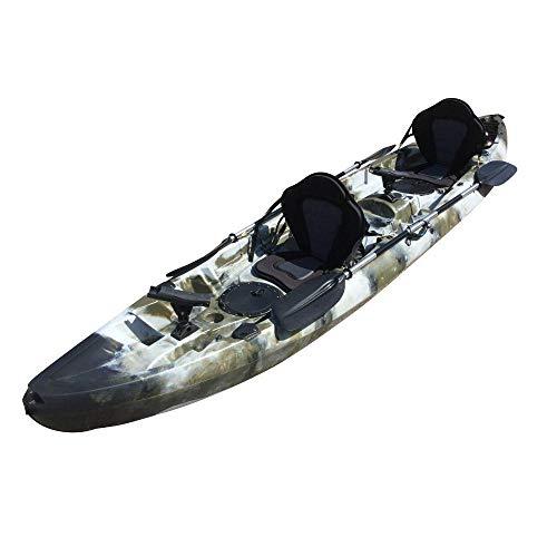 Cambridge Kayaks ES, Sun Fish TÁNDEM SÓLO 2 + 1,Camuflaje del Desierto, RIGIDO