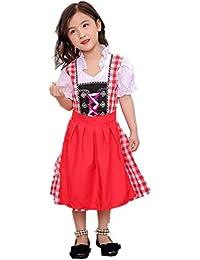 Blaward Bekleidung Mädchen Dirndl-Sets Kleider Kinderdirndl Dirndl Baby Mädchen für Oktoberfest Cosplay Party