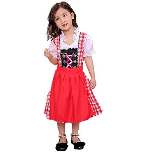 Blaward Bekleidung Mädchen Dirndl-Sets Kleider Kinderdirndl Dirndl Baby Mädchen für Oktoberfest Cosplay - Kind Oktoberfest Kostüm