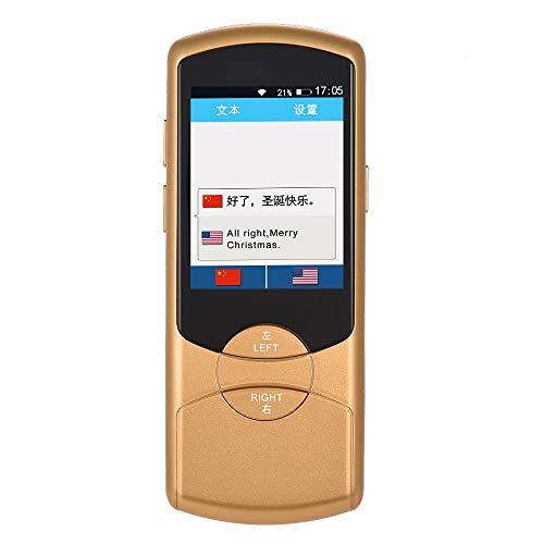 Aibecy Traductor Instantaneo de Voz Pantalla táctil portátil de 2.8 pulgadas Dispositivo inteligente de traducción de voz en 42 idiomas Soporte de traducción interactivo de dos vías Wifi/4G