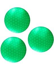 Gazechimp 3 Pedazos de Bola Pelota de Golf Noche de Color Verde Oscuro Peso/Tamaño Oficial