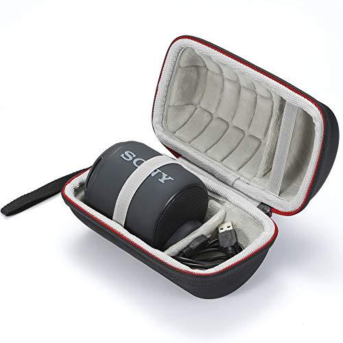Tasche für Sony XB10, Hartschalenkoffer Reisetasche für Sony SRS-XB10 Kompakter tragbarer Wireless-Lautsprecher. (Nur Gehäuse, Lautsprecher und Zubehör Sind Nicht Enthalten) - Schwarz