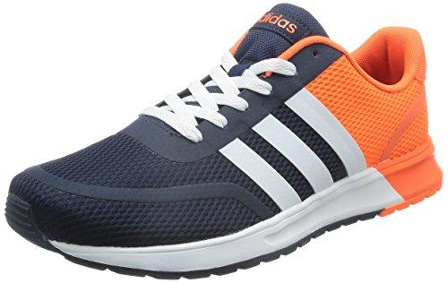 adidas V Racer TM II Tape, Chaussures de Sport Homme Multicolore - Azul Marino / Blanco / Naranja (Maruni / Ftwbla / Narsol)