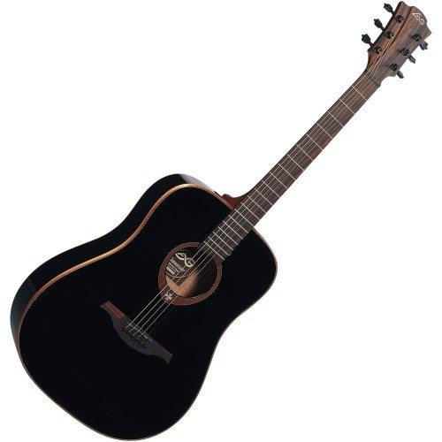 Lag - T100d blk dreadnought guitarra acustica negra
