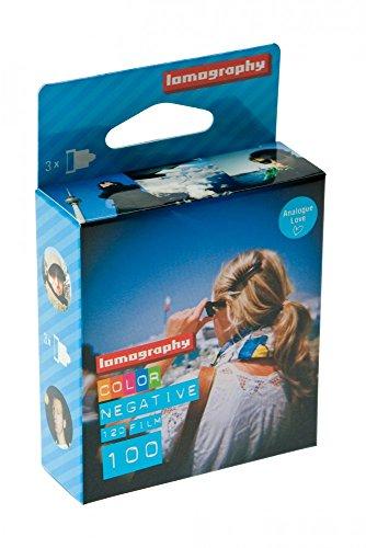 Lomography–683120mm 100/120ISO Color Negativo–Pack de 3(Azul)