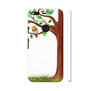 Colorpur A Bird On A Tree Printed Back Case Cover for Google Pixel XL