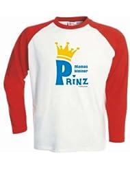 Kinder Baseball T-Shirt langarm Mamas kleiner Prinz / Größe 92 - 162