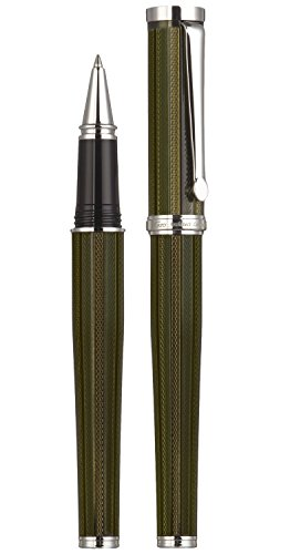 Cheap Xezo Architect Olive Metallic Fine Executive Rollerball Pen. Diamond-Cut Weighty Barrel. Serial Number. Platinum Plated. Limited Edition of 500 on Line