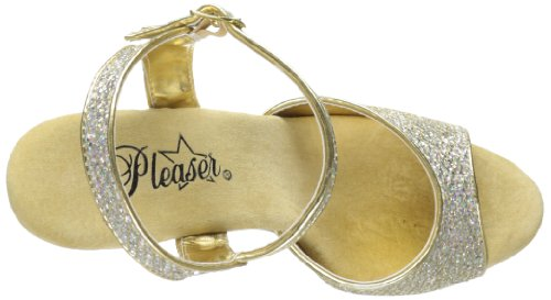 Pleaser Delight-609g, Scarpe Col Tacco Donna Gold Multi Gltr/Gold Chrome