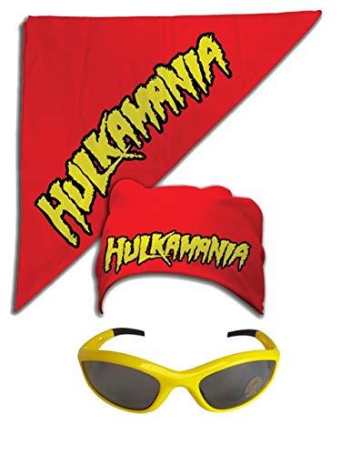 Unbekannt Kostüm Sonnenbrille Kopftuch Hulk Hogan Hulkamania Gelb Rot
