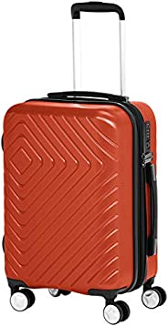 AmazonBasics Geometric Travel Luggage Expandable Suitcase Spinner with Wheels and Built-In TSA Lock, 22 Inch -