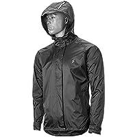 WDFVGEE hombres mujeres a prueba de viento impermeable Ciclismo lluvia chaqueta deporte al aire libre con capucha impermeable Ciclismo correr sudadera