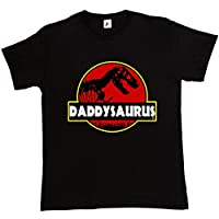 Fancy A Snuggle Daddysauras Dad Fathers Day T-Rex Old Dinosaur Mens T-Shirt Large Black
